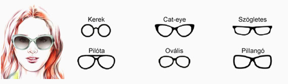 Női napszemüveg ovális archoz