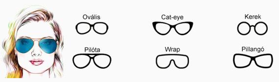 Napszemüveg szögletes arcformához